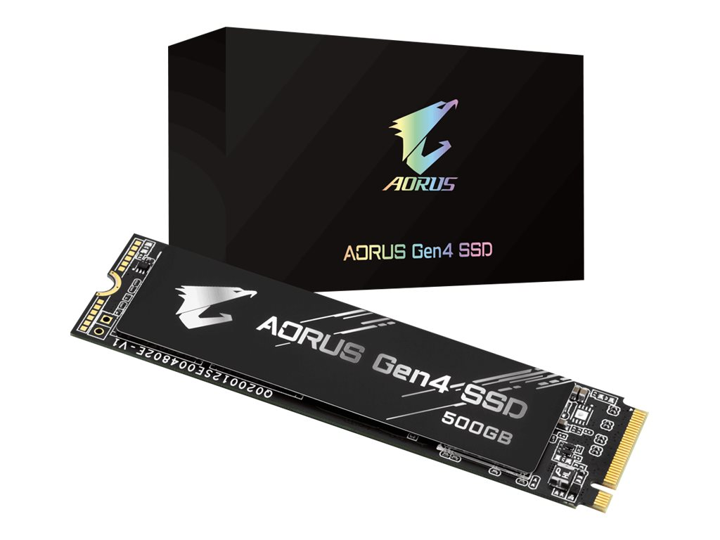 Gigabyte AORUS - 500 GB SSD - intern - M.2 2280 - PCI Express 4.0 x4 (NVMe)