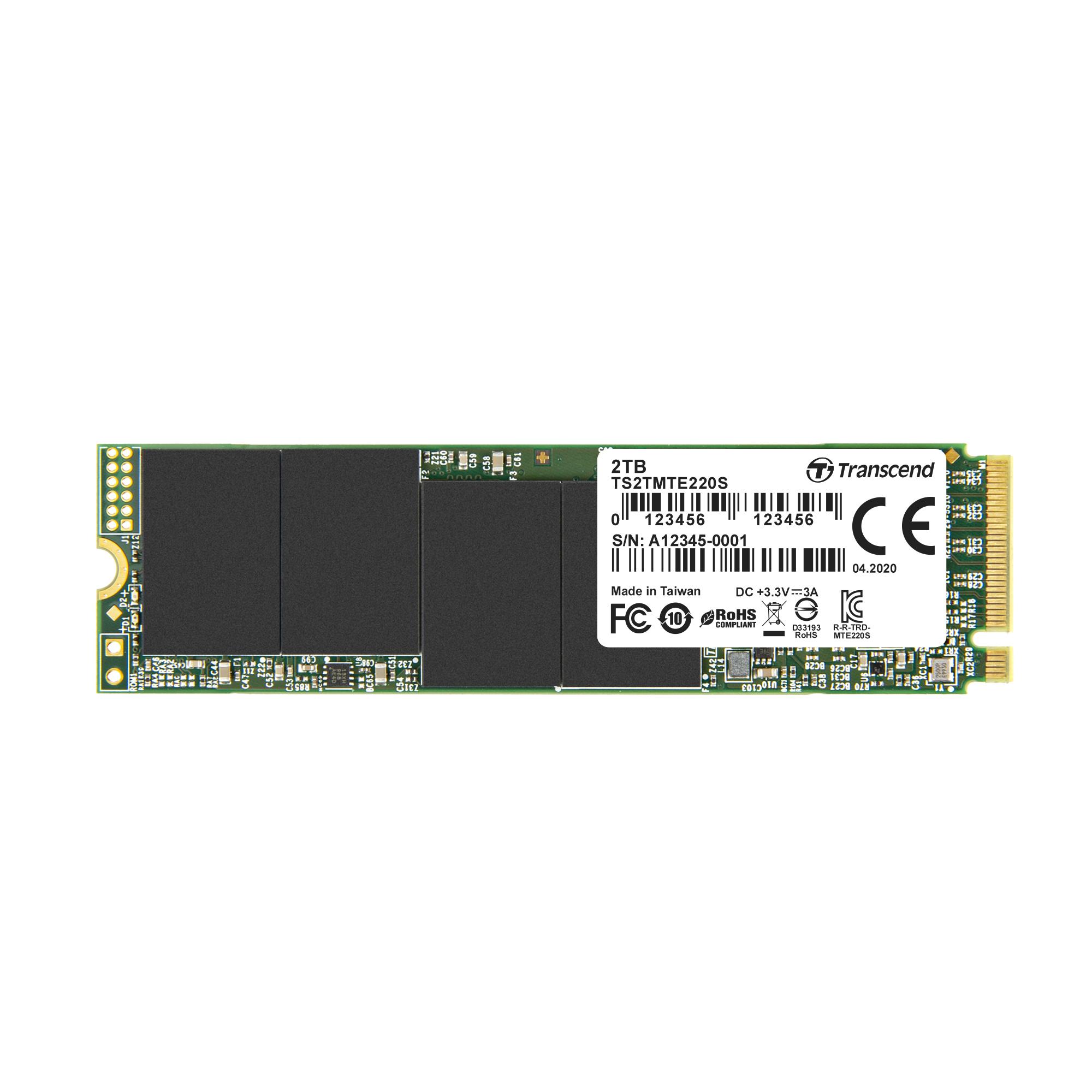 Transcend 220S - 2 TB SSD - intern - M.2 2280 - PCI Express 3.0 x4 (NVMe)