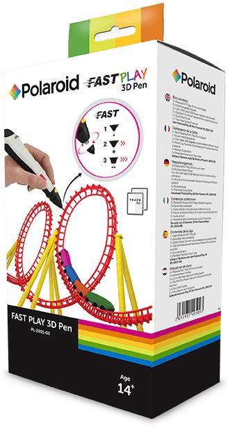 Polaroid Fast Play 3D Pen - Polyacticsäure (PLA) - Schmelzfadenherstellung (FFF) - 1,75 mm - Schwarz - Weiß - 32 mm - 33 mm