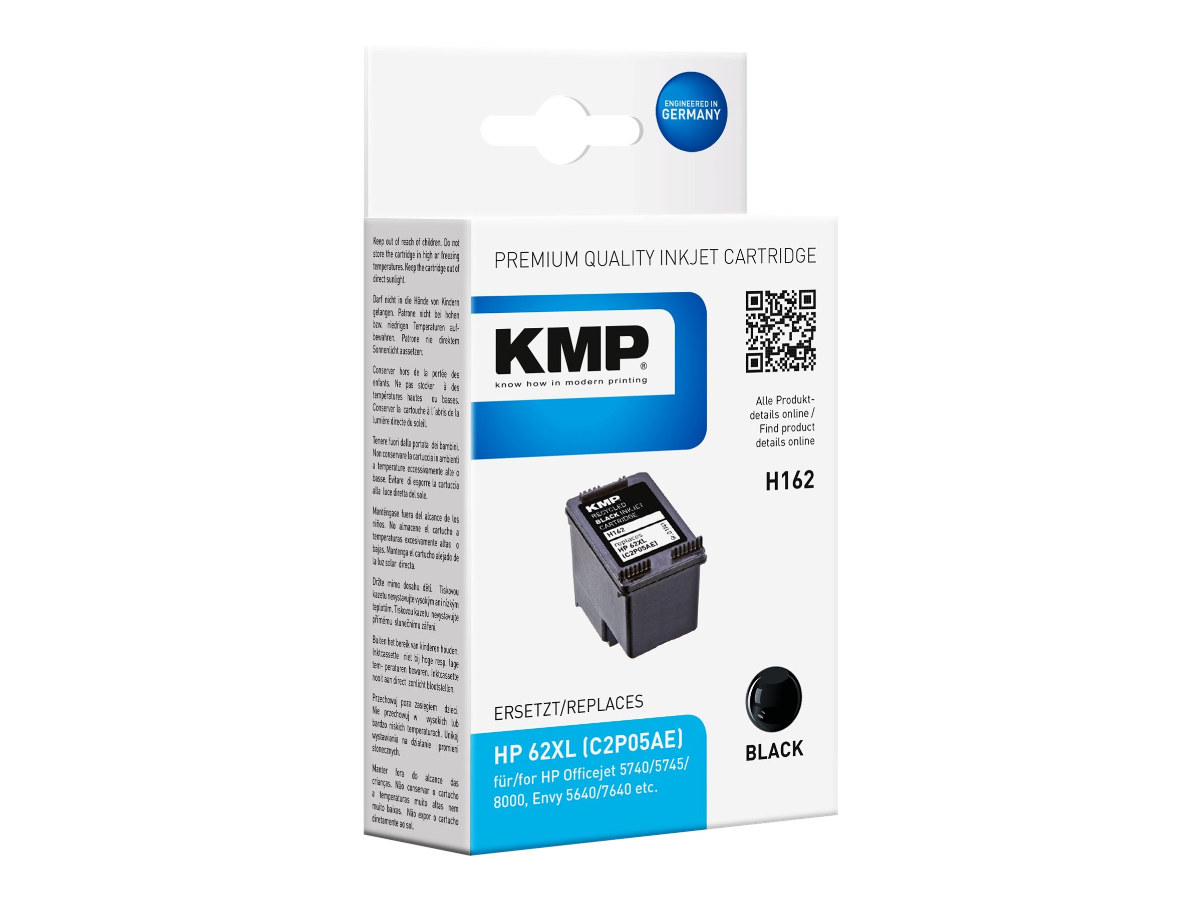 KMP H162 - 12 ml - Schwarz - kompatibel - Tintenpatrone