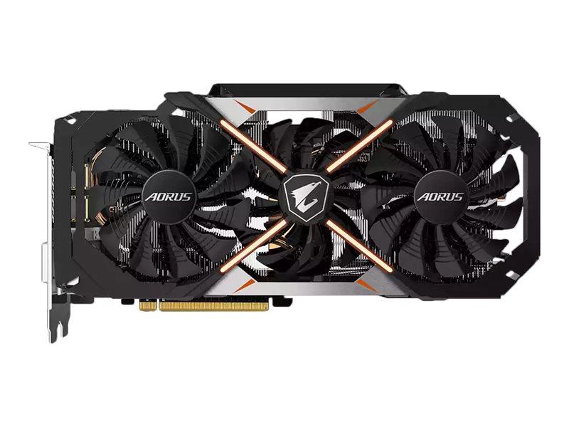 Gigabyte AORUS GeForce GTX 1070 8G Grafikkarten - GF GTX 1070 - 8 GB GDDR5 - PCIe 3.0 x16 - DVI - HDMI - 3 x DisplayPort - Schwarz