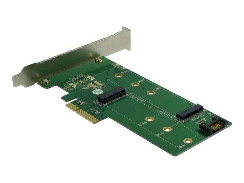 Inter-Tech KT015 - Schnittstellenadapter - M.2 Card / SATA 6Gb/s Low-Profile