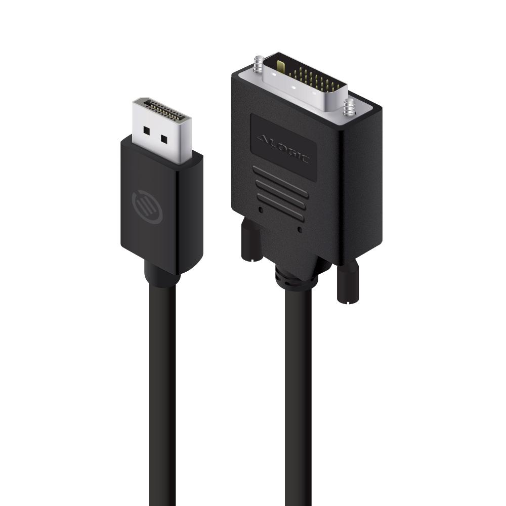 Alogic ELDPDV-02 - 2 m - DisplayPort/DVI - Männlich - Schwarz