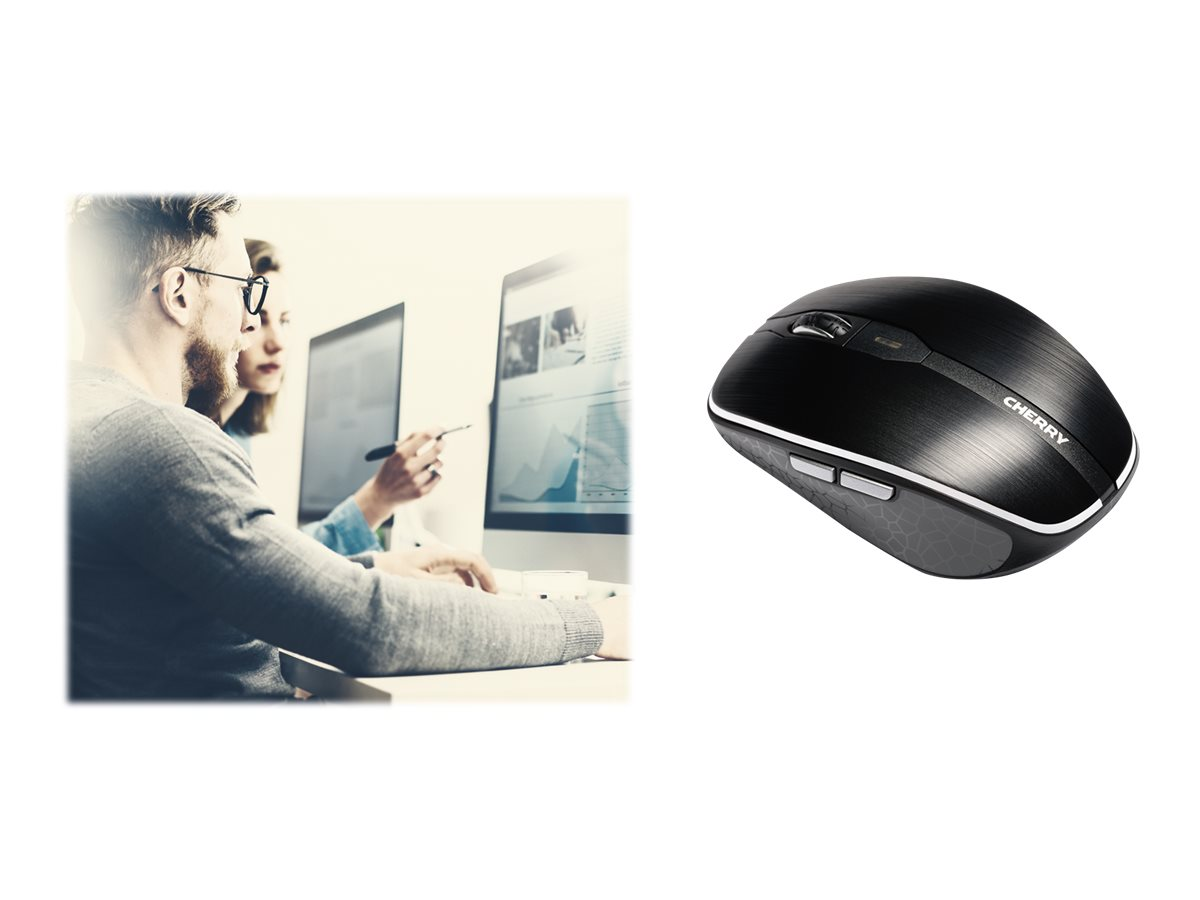 Cherry MW 8 Advanced - Maus - ergonomisch - optisch - 6 Tasten - kabellos - 2.4 GHz - kabelloser Empfänger (USB)