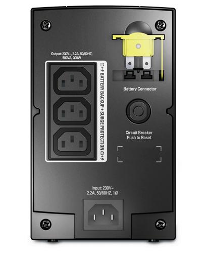 APC Back-UPS Line-Interaktiv 500VA 3AC-Ausgänge Tower Schwarz Unterbrechungsfreie Stromversorgung (UPS)