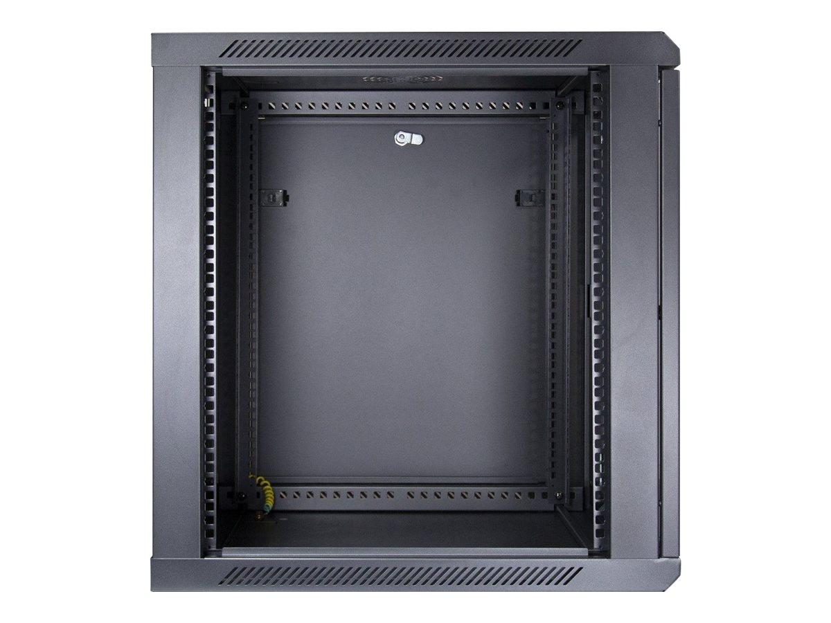 """Inter-Tech SMA-6612 - Gehäuse - geeignet für Wandmontage - Schwarz, RAL 9005 - 12U - 48.3 cm (19"""")"""