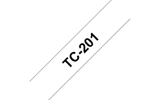 Brother TC-201 Schwarz auf weiss TC Etiketten erstellendes Band