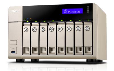 QNAP TVS-863 NAS Tower Eingebauter Ethernet-Anschluss Gold