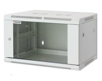 Intellinet 711821 - 9U - Wandmontiertes Regal - 60 kg - Grau - Geschlossen - Glas