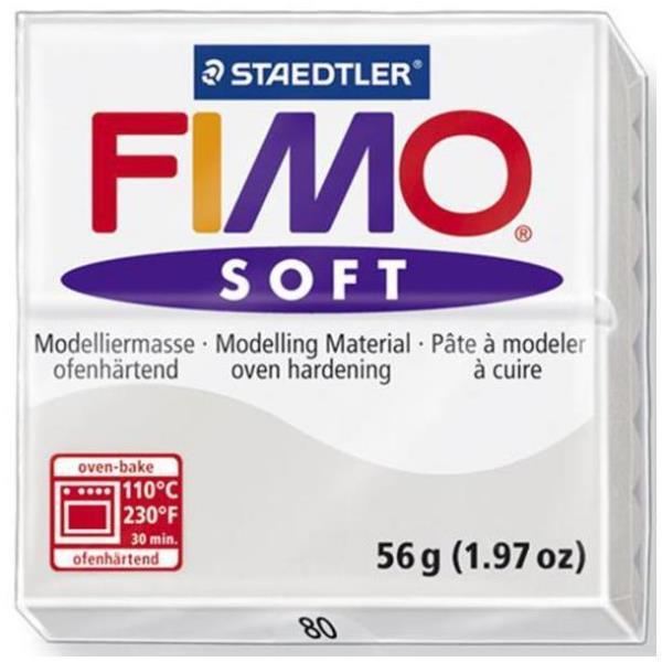 Vorschau: STAEDTLER FIMO soft - Knetmasse - Grau - 110 °C - 30 min - 56 g - 55 mm