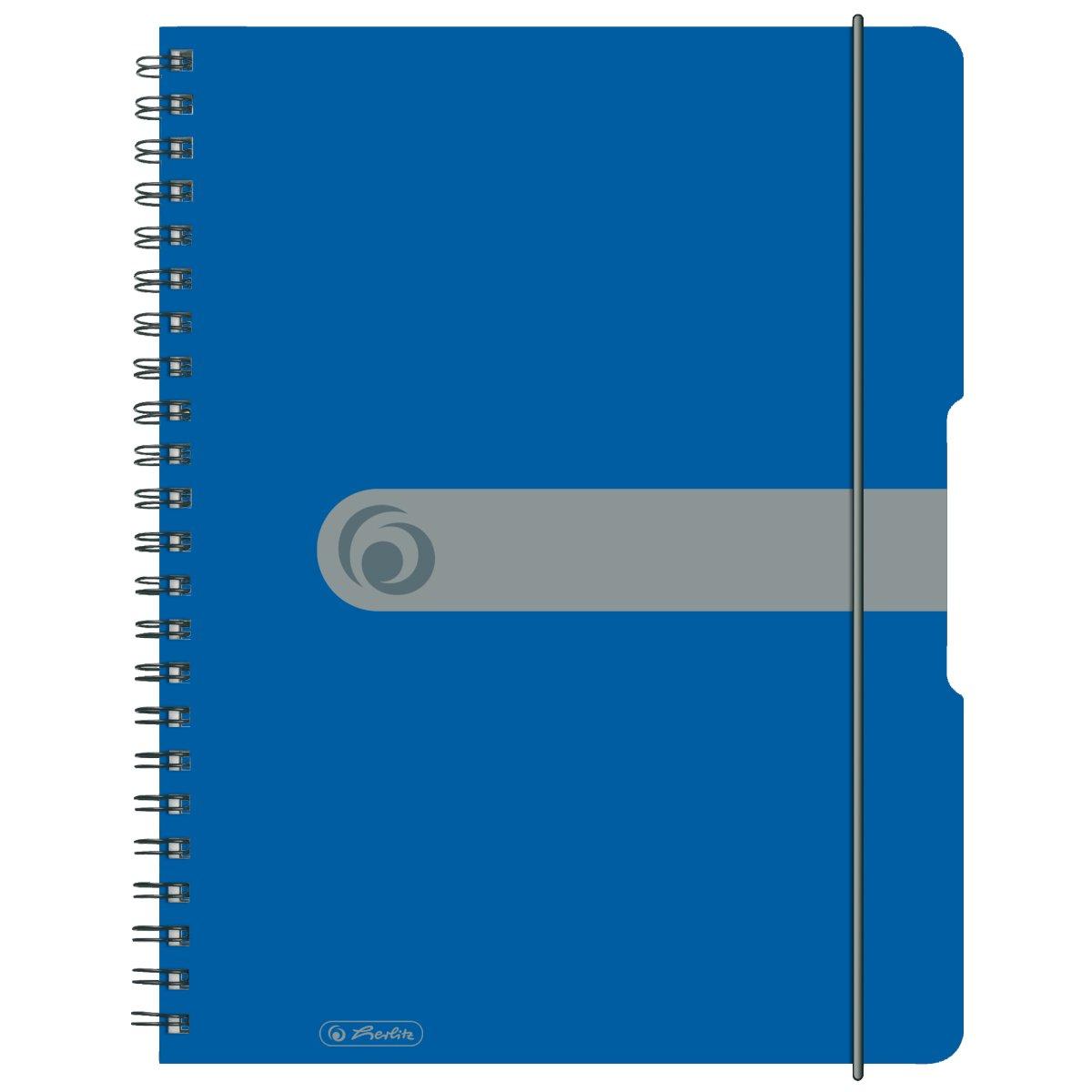 Herlitz 11293065 - Einfarbig - Blau - A4 - 80 Blätter - 80 g/m² - Erwachsener