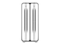 ICYRaid MB662U3-2S R1 3.5 Zoll HDD-Gehäuse Silber - Weiß