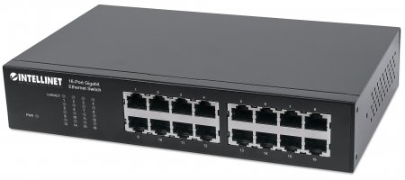 Intellinet 16-Port Gigabit Ethernet Switch - Switch - 16 x 10/100/1000