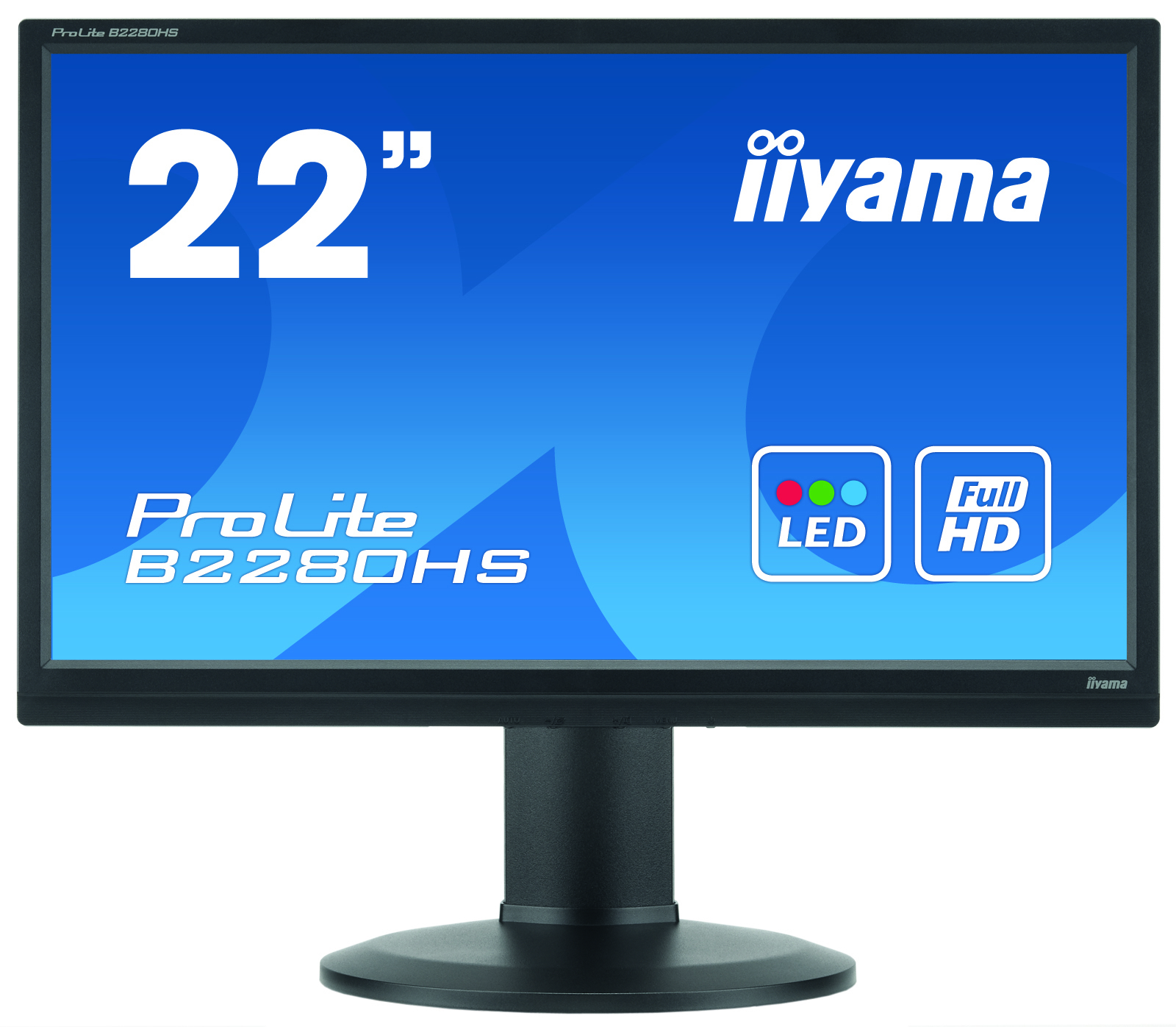 Iiyama ProLite B2280HS-B1DP 21.5Zoll Full HD TN Matt Schwarz Computerbildschirm