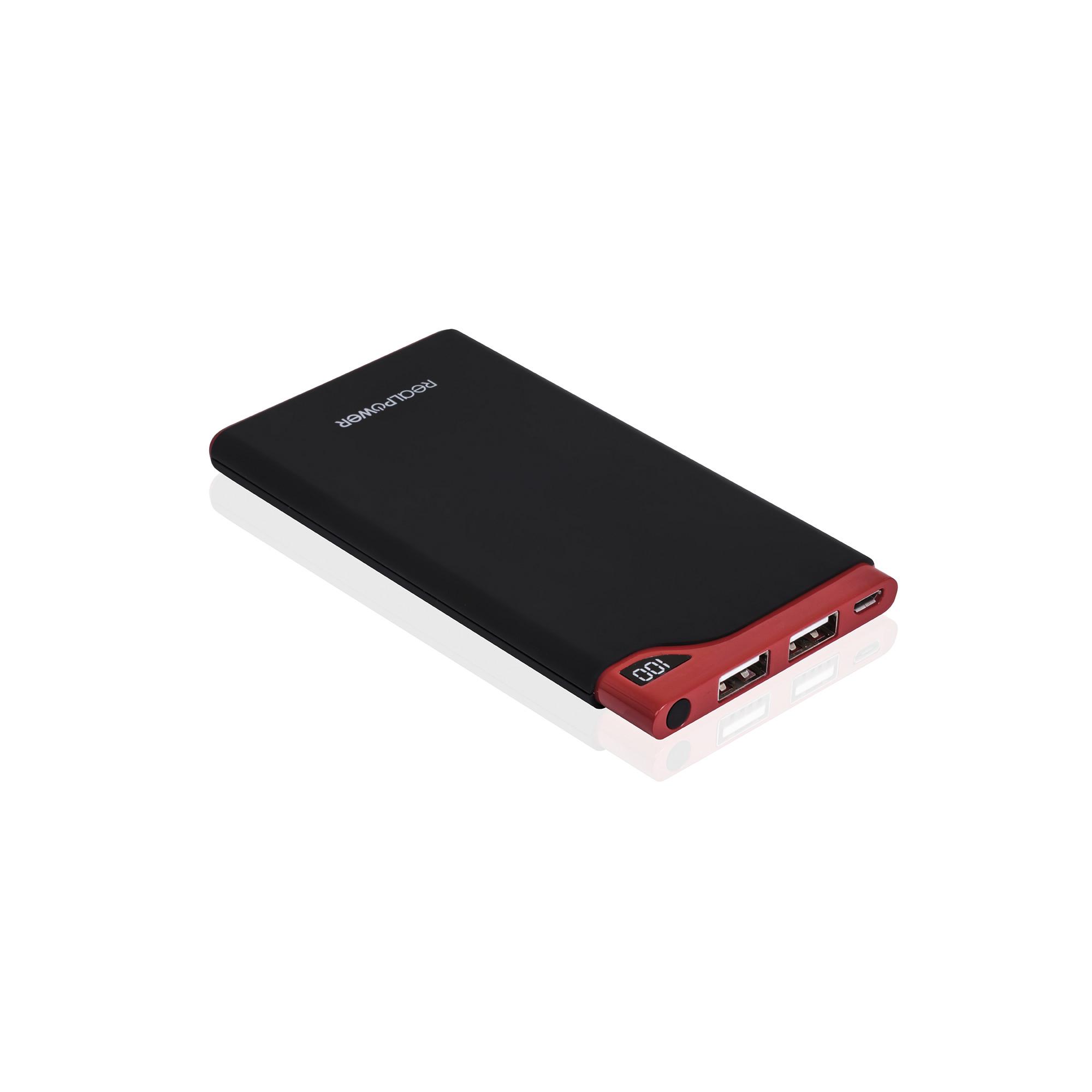 RealPower PB-6000S - Schwarz - Rot - Handy/Smartphone - Tablet - CE - TÜV GS - China - Lithium Polymer (LiPo) - 6000 mAh