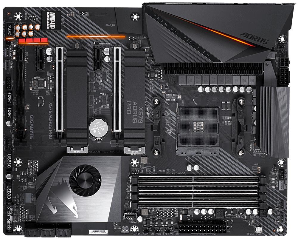 Gigabyte X570 AORUS PRO (rev. 1.0) - AMD - Buchse AM4 - AMD Ryzen - DDR4-SDRAM - DIMM - 2133,2400,2667,2933,3200,3300,3333,3400,3466,3600,3733,3800,3866,4000,4133,4266,4300,4400 MHz