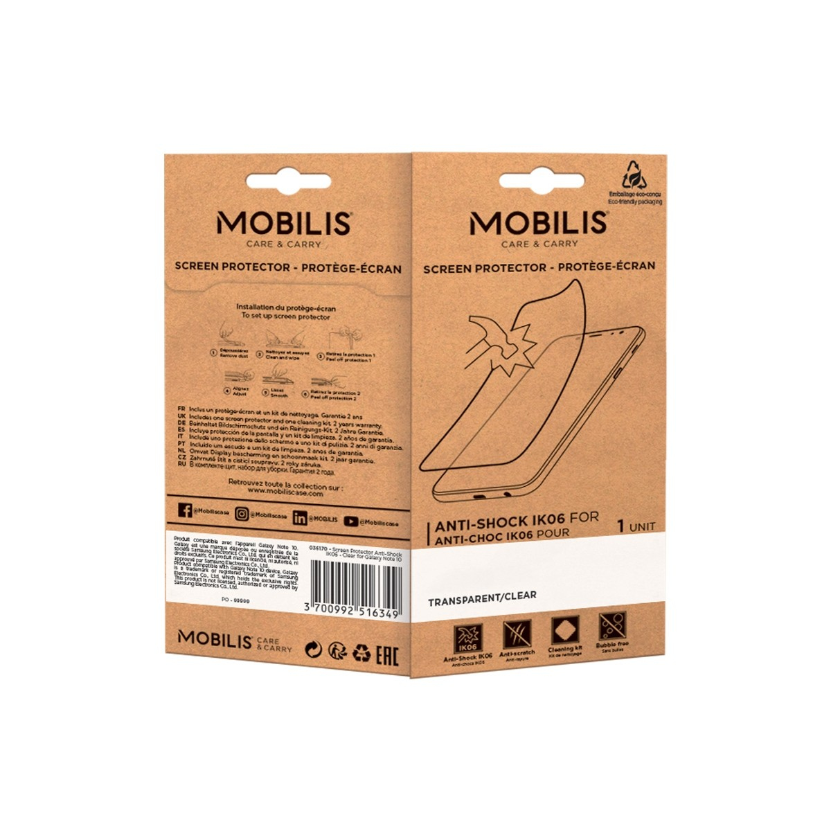 Mobilis Screen Protector Anti-Shock IK06-ClearGalaxy A32 5G