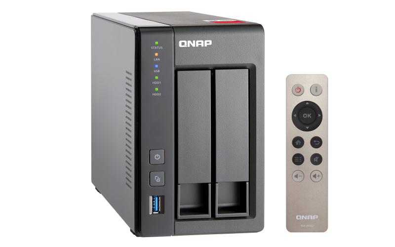 QNAP TS-251+ - NAS-Server - 2 Schächte - 8 TB
