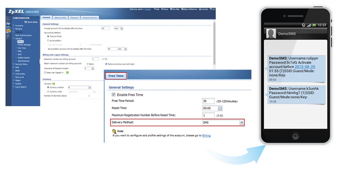 ZyXEL E-iCard Hotspot Management - Abonnement-Lizenz (1 Jahr)