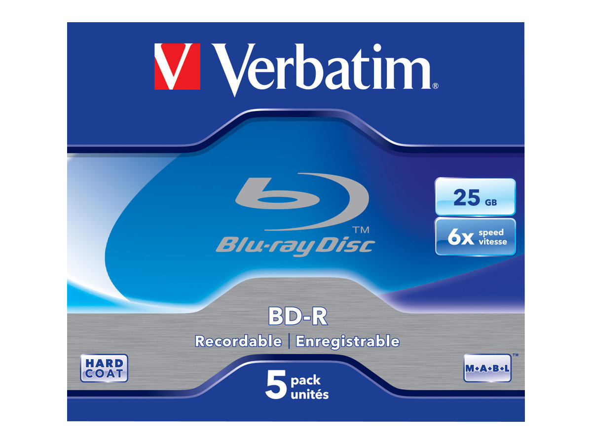 Verbatim 5 x BD-R - 25 GB 6x - Jewel Case (Schachtel)
