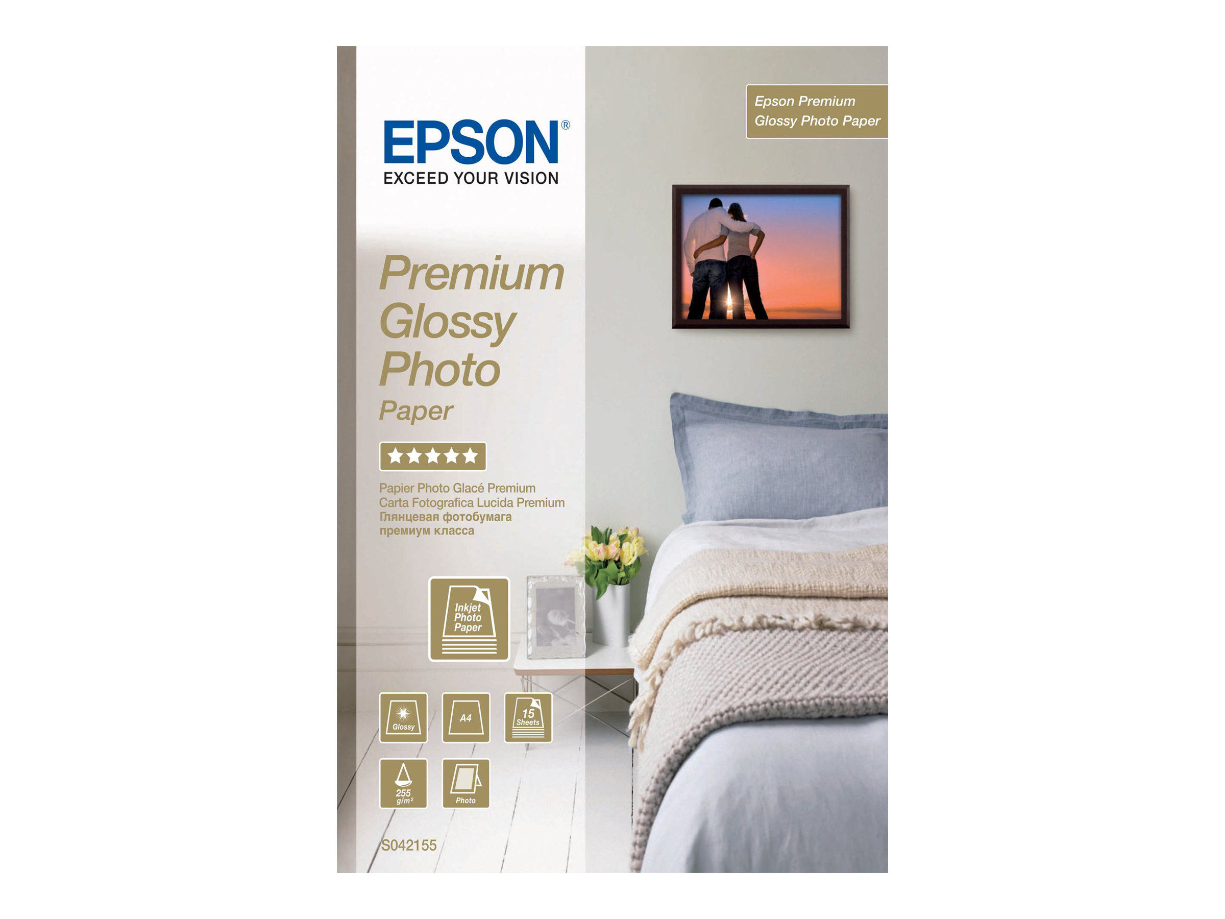 Epson Premium Glossy Photo Paper - Glänzend - A4 (210 x 297 mm)