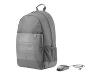 15.6 Classic Backpack Rucksack Nylon Schwarz