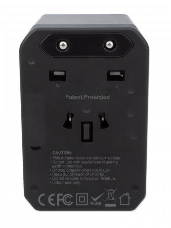 Manhattan PD USB-Ladegerät Reiseadapter für EU UK US
