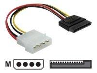 Delock Netzteil - SATA-Stromstecker (M) bis interne Stromversorgung, 4-polig (M)