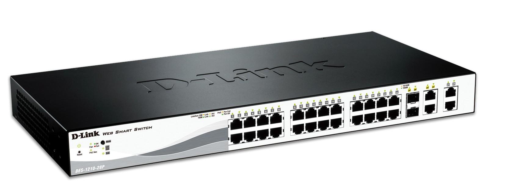 D-Link DES-1210-28P Netzwerk-Switch