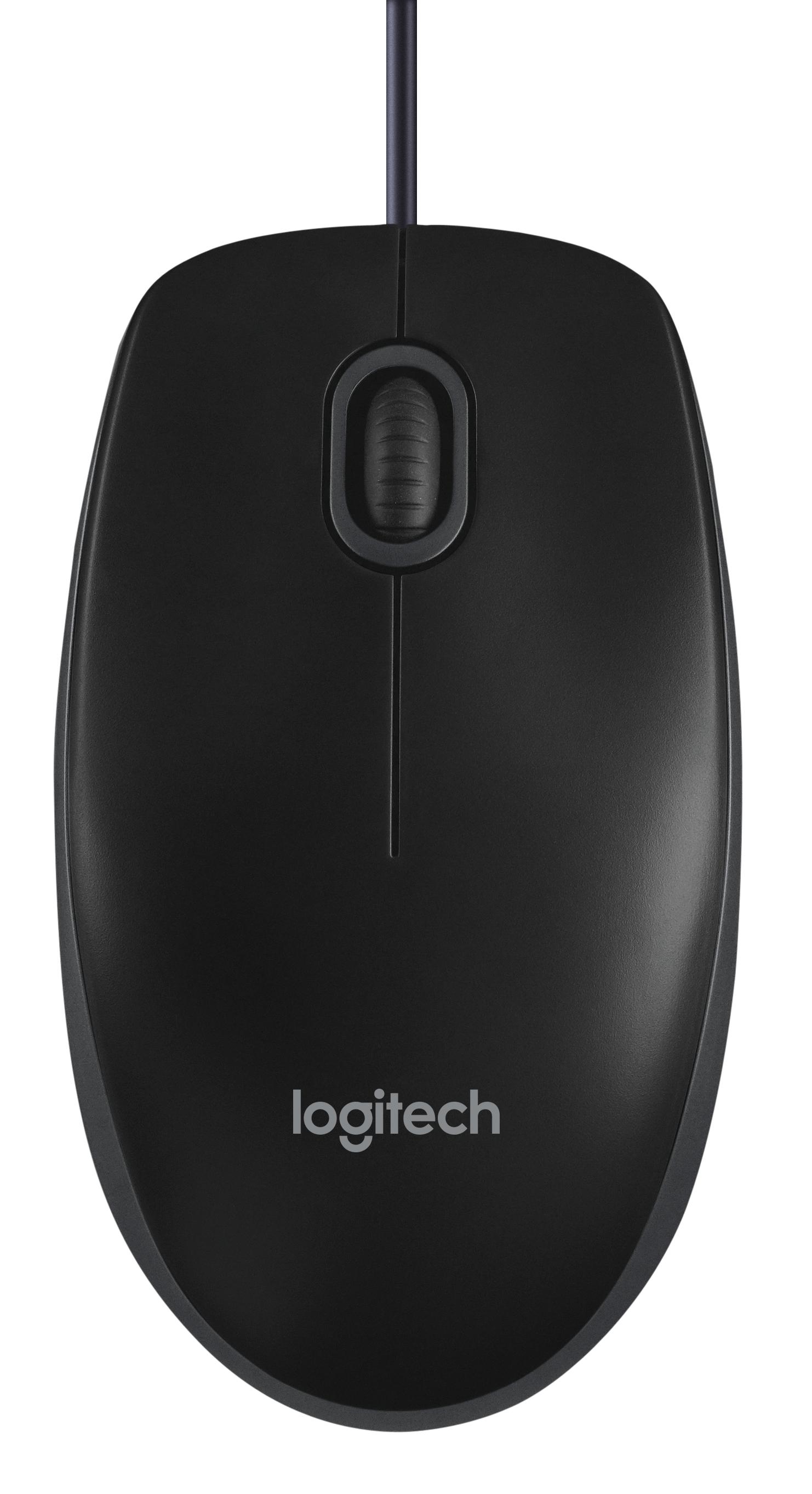 Logitech B100 Optisk Kabling Sort