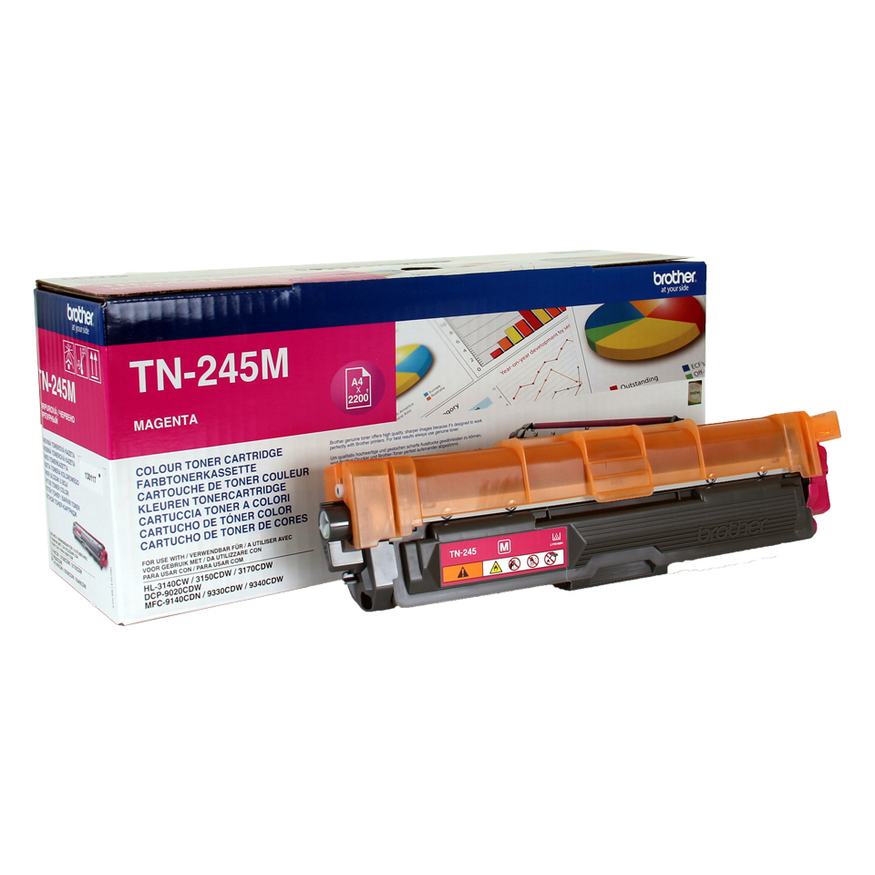 Brother TN-245M Laser cartridge 2200Seiten Magenta Lasertoner / Patrone