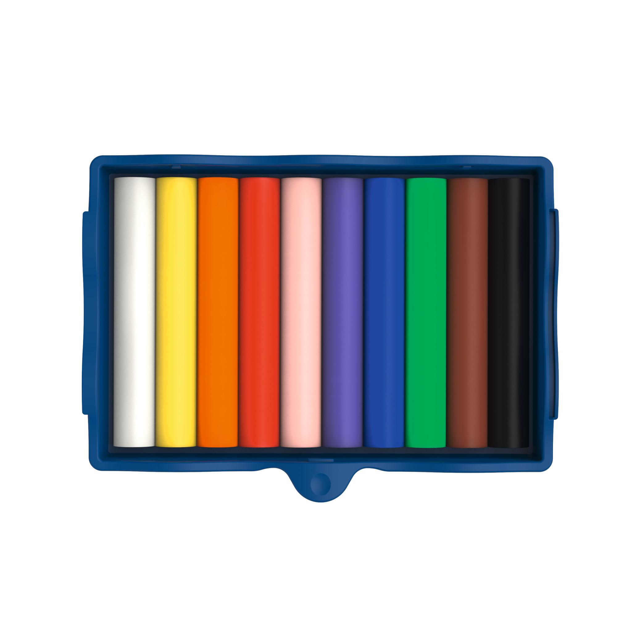 Pelikan Kreativfabrik Creaplast - Modellierton - Schwarz - Blau - Braun - Grün - Orange - Pink - Violett - Rot - Weiß - Gelb - Kinder - 10 Stück(e) - 10 Farben - Junge/Mädchen