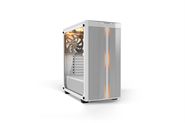 Vorschau: Be Quiet! Pure Base 500DX - Desktop - PC - Acrylnitril-Butadien-Styrol (ABS) - Stahl - Gehärtetes Glas - Weiß - ATX,Micro ATX,Mini-ATX - Rot/Grün/Blau