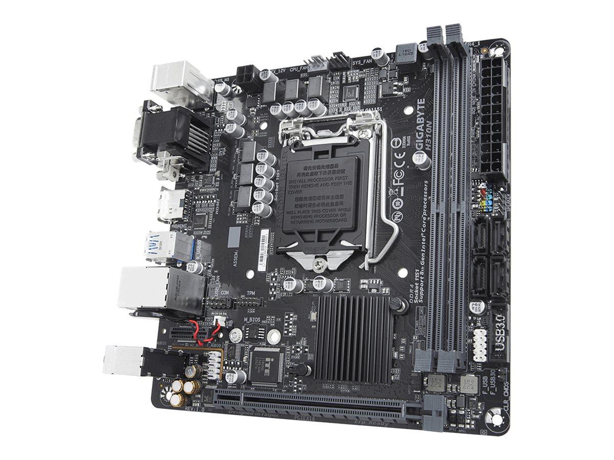 Gigabyte H310N - 1.0 - Motherboard - Mini-ITX - LGA1151 Socket - H310 Chipsatz - USB 3.1 Gen 1 - Gigabit LAN - Onboard-Grafik (CPU erforderlich)