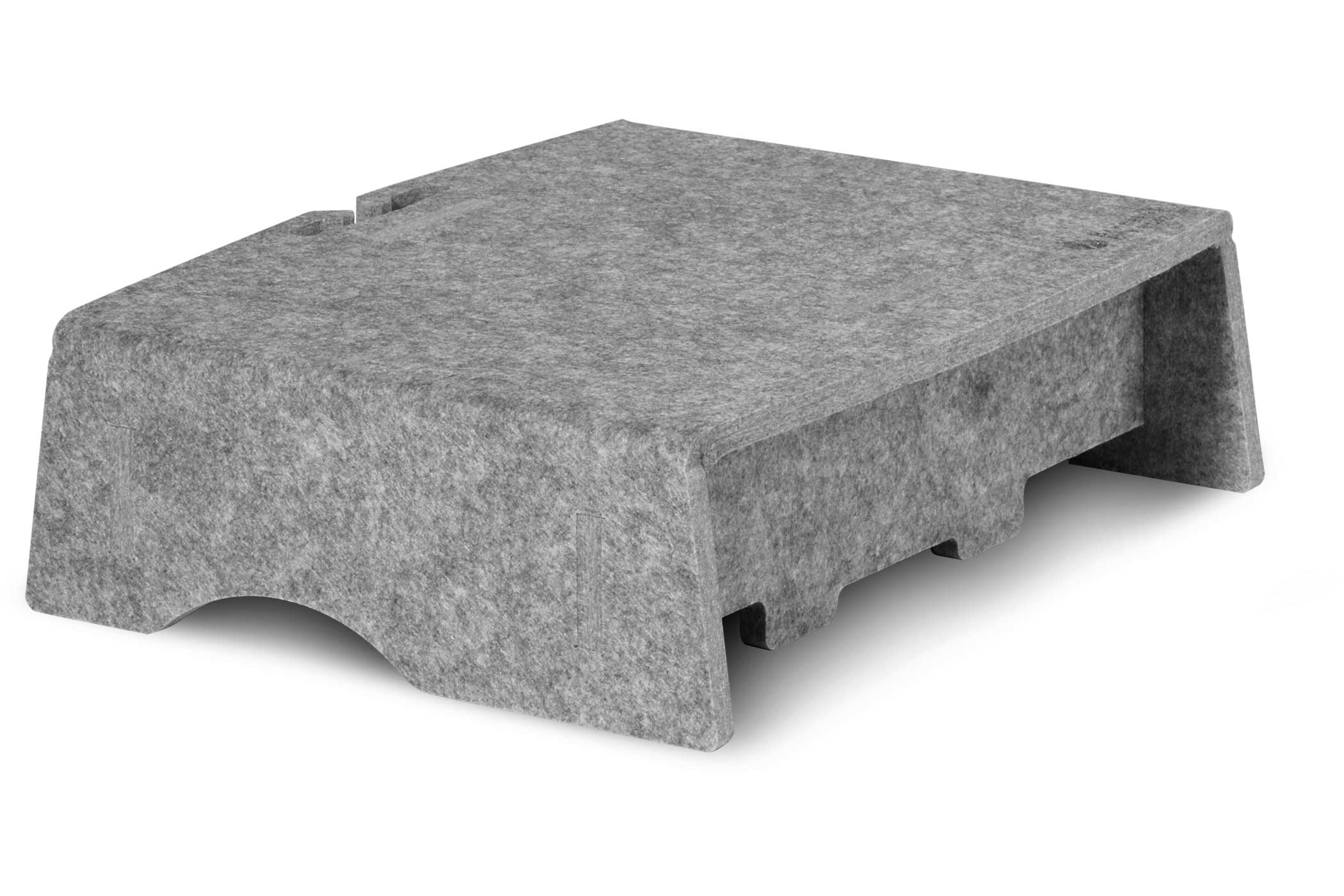 Vorschau: Bakker Q-Riser 90 Circular - Freistehend - 43,2 cm (17 Zoll) - Grau
