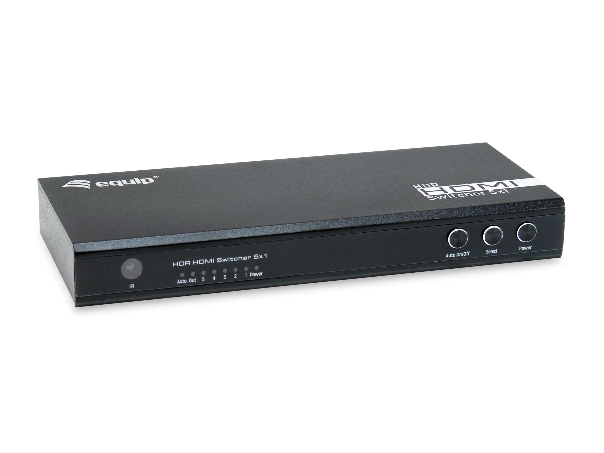 equip Switch 5x1 HDMI 2.0 4K/60Hz schwarz inkl.Fernbedienung - Switch