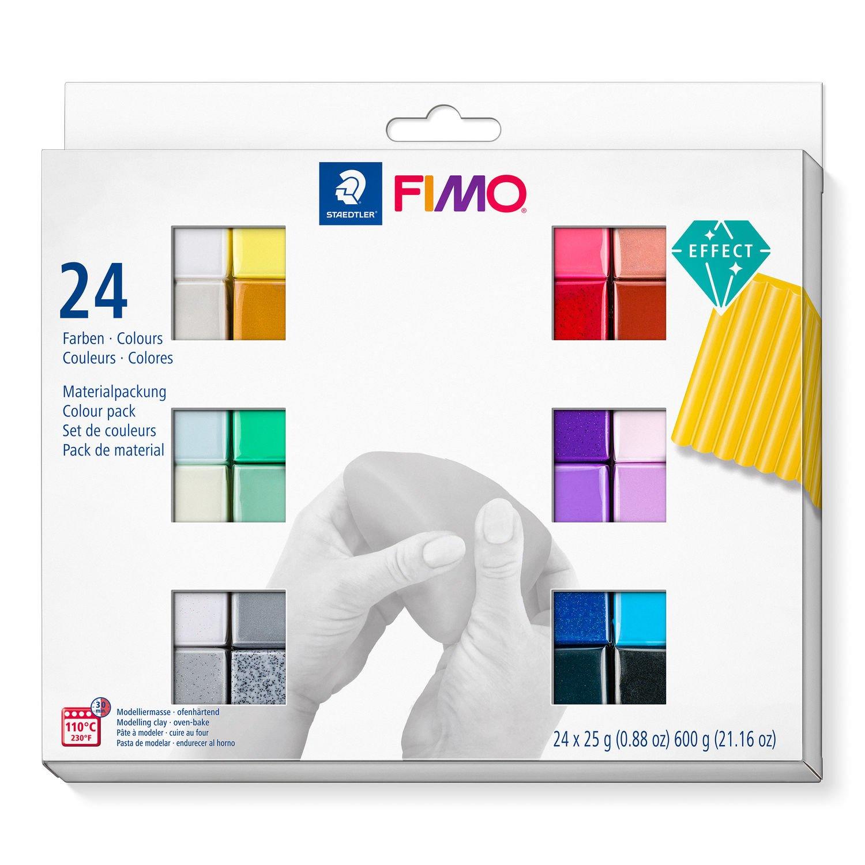 STAEDTLER FIMO 8013 C - Modellierton - Schwarz - Blau - Kupfer - Gold - Grün - Grau - Perleffekt - Pink - Violett - Rot - Rose - Silber - Weiß - Gelb - 24 Stück(e) - 24 Farben - 110 °C - 30 min