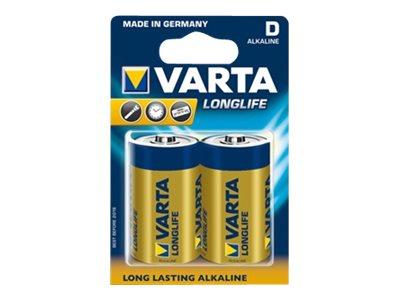Varta Longlife 04120 - Batterie 2 x D - Alkalisch