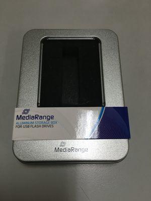 MEDIARANGE BOX901 - Aufbewahrungsbox - Silber - Rechteckig - Aluminium - Kunststoff - Einfarbig - Universal