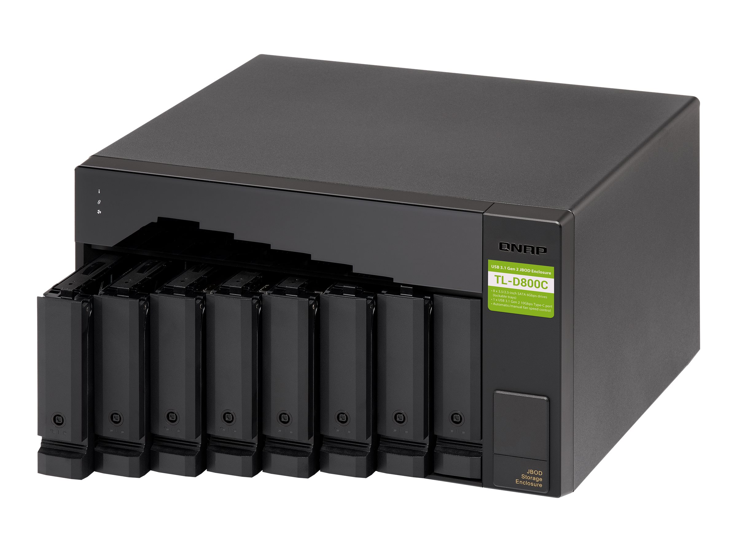 QNAP TL-D800C - Festplatten-Array - 8 Schächte (SATA-600)