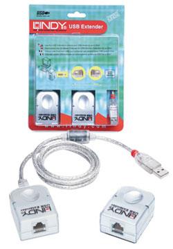 Lindy USB Extender PREMIUM bisüber Cat.5 Kabel - Kabel