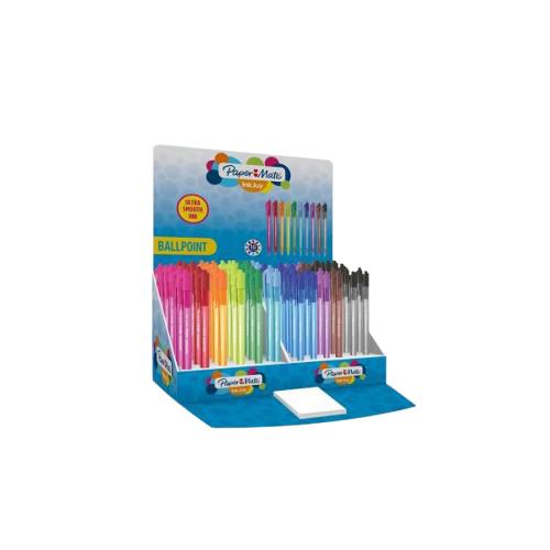 Paper Mate 1960907 - Clip - Clip-on retractable ballpoint pen - Schwarz - Blau - Braun - Grün - Hellblau - Hellgrün - Orange - Pink - Rot - Violett - 150 Stück(e) - Medium