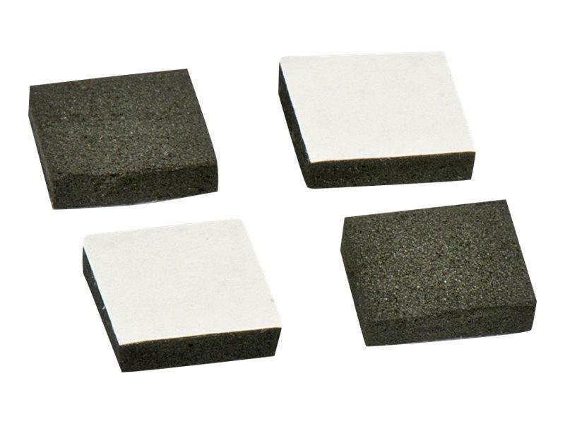 Lindy Selbstklebende Pads für Laufwerk - Schwarz (Packung mit 4)