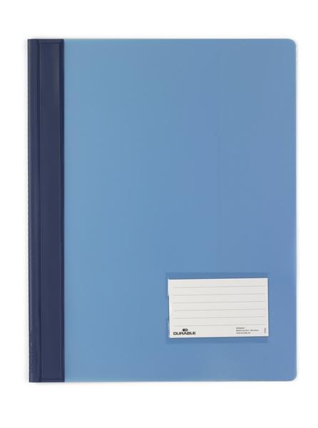 Durable Schnellhefter transluzent - A4 - PVC - Blau - Porträt - 57 x 90 mm - 1 Stück(e)