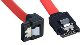 Lindy Internes SATA Kabel mit abgewinkeltem Stecker Latch-T