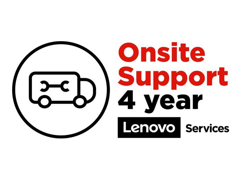 Lenovo Onsite Upgrade - Serviceerweiterung - Arbeitszeit und Ersatzteile - 4 Jahre - Vor-Ort - Reaktionszeit: am nächsten Arbeitstag - für ThinkPad X1 Carbon (7th Gen)
