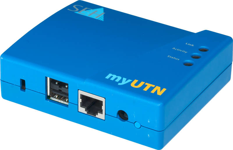 SEH myUTN-50a - Geräteserver - 10Mb LAN, USB, 100Mb LAN, Gigabit LAN, USB 2.0
