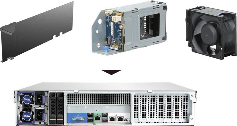 "Vorschau: Chenbro 2-bay 2.5"" HDD Cage Hot-swap w/2-port NVME Backpla"