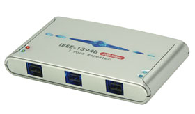 Lindy FireWire Hub - 3 Port IEEE1394b Repeater - Kabel