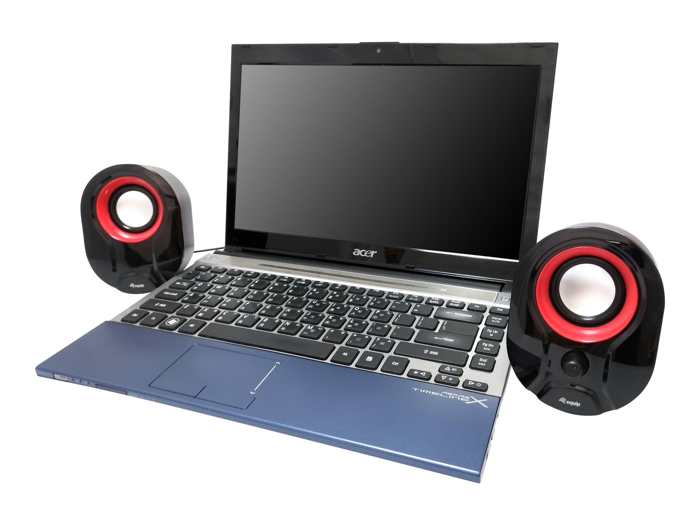 equip Stereo 2.0 - Lautsprecher - für PC - 3 Watt
